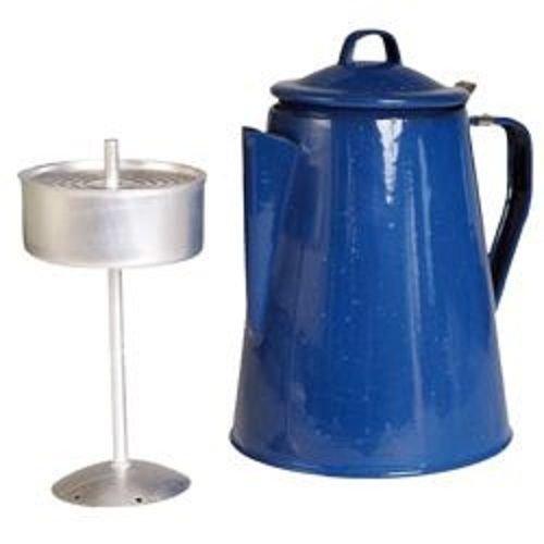 G8DS® Kaffeekanne Teekanne Emaille mit Perkolator für 8 Tassen blau