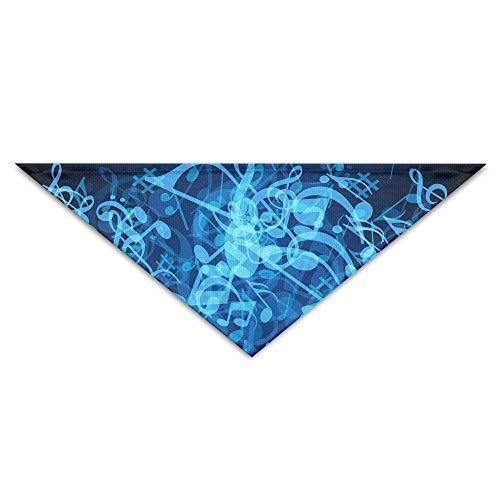 Sdltkhy Pet Triangle Bandana Blue Music Notes Art Washable Dog Puppy Scarf