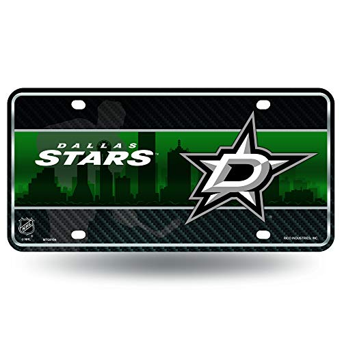 Rico NHL Kennzeichenanhänger aus Metall, Unisex, grün, 12 x 6-Inch Dallas Stars Hockey Logo