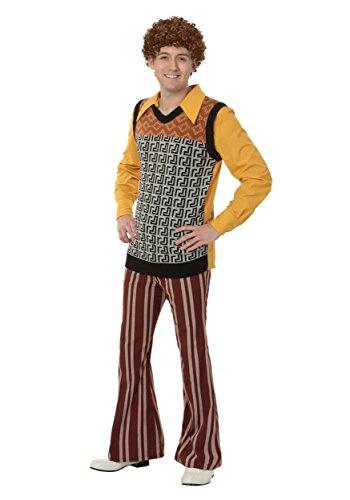 Herren Plus Size 70's Kostüm - 2X