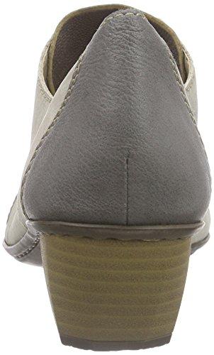 Rieker 41736, Derbies à lacets femme Gris - Grau (shark/hay/shark / 40)
