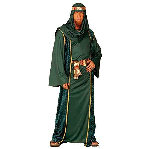 Scheich Kostüm Araber Scheichkostüm grün S (42/44) | Araberkostüm Herren Orientkostüm Sultan | Faschingskostüm Kalif Ölscheich | Arabisches Karnevalskostüm 1001 Nacht | Karneval Kostüm Männer