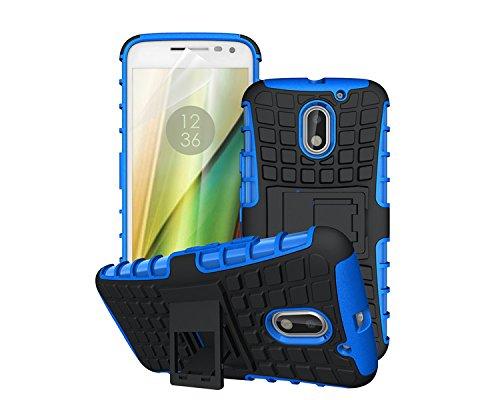 betterfon   Outdoor Handy Tasche Hybrid Case Schutz Hülle Panzer TPU Silikon Hard Cover Bumper für Lenovo Moto E3 Blau