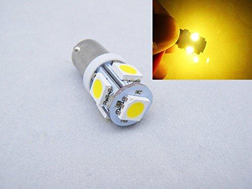 1156 BA9S 12 VDC 5050 SMD 5 LED Ampoules Dashboard de l'automobile 1895 t4 W 1445 6253 couleur : blanc chaud 3000 K (Lot de 8)