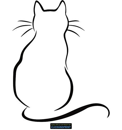 CLICKANDPRINT Aufkleber » Katze am Fenster, 10x8,0cm, Schwarz • Dekoaufkleber / Autoaufkleber / Sticker / Decal / Vinyl