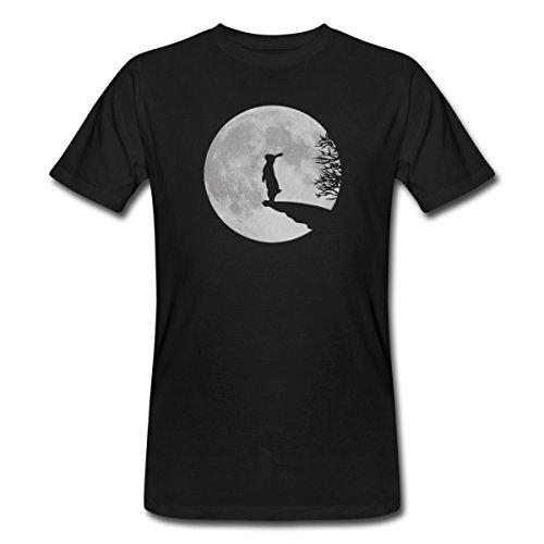 Spreadshirt Hase Vollmond Wolfinchen Häschen Mond Männer Bio-T-Shirt, M, Schwarz (T-shirt Mond)