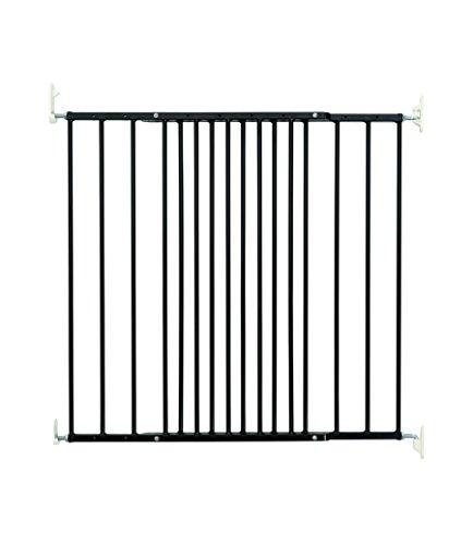 BabyDan Multidan–Barrera de puerta/escaleras, Metal, Negro, 62,5- 106,8cm