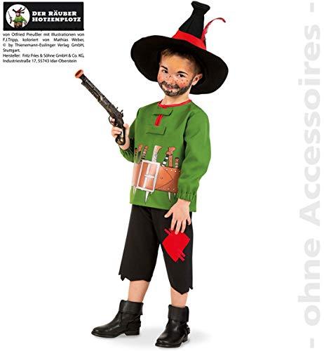 Hotzenplotz Kostüm Kinder Bandit Räuber Wilder Mann Kinderkostüm (Kind Räuber Kostüm)