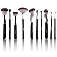 Makeup Brush Set - Powder Brush, Angled Contour, Kabuki, Eyeshadow Blending Brush, Foundation Brush & more [10 Face Brushes]