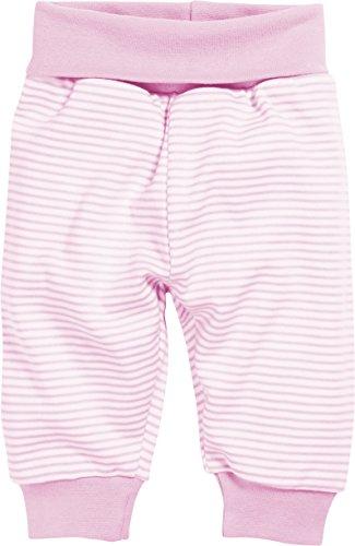 Schnizler Kinder Pump-Hose aus 100% Baumwolle, komfortable und hochwertige Baby-Hose mit elastischem Bauchumschlag, gestreift, Rosa (Weiß/Rose 586), 98 -