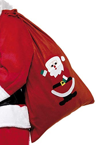 Smiffys Unisex Weihnachtsmann Rucksack mit lustigem Santa Motiv, 90 cm x 60cm, 24497
