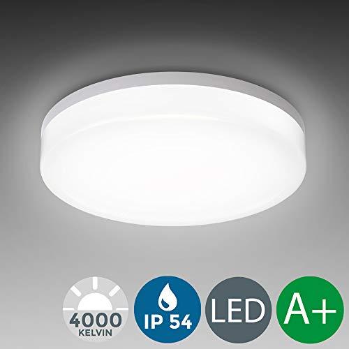 LED Deckenleuchte, wasserfest, IP54 inkl. 13W 1600lm LED Platine, 4000K neutral weiss, 22cm Durchmesser, Badezimmer und Balkon geeignet - Ein K-lampe