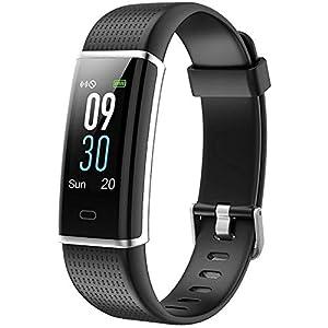 Willful Fitness Armband mit Pulsmesser,Wasserdicht IP68 Fitness Tracker Farbbildschirm Aktivitätstracker Pulsuhren Schrittzähler Uhr Smartwatch für Damen Herren