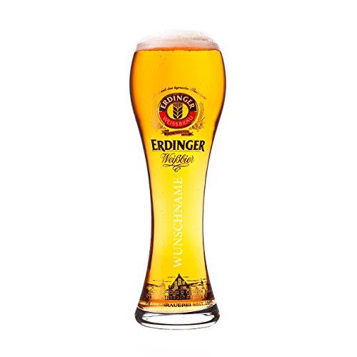 Erdinger Glas mit Gravur lizenziert Original Weißbierglas 0,5l - Männer Geschenk zum Vatertag