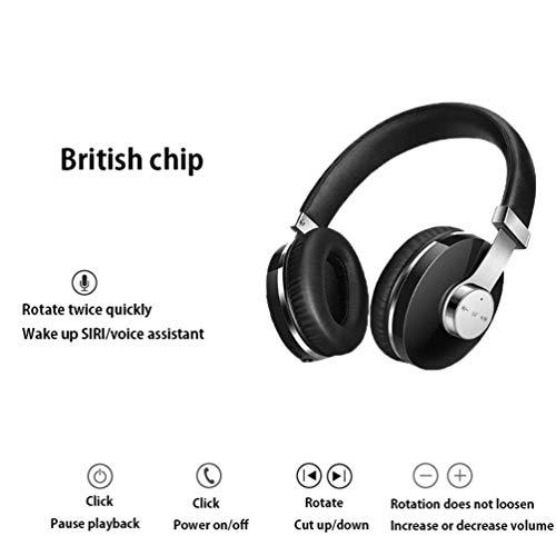 YOUXIU Kabelloses Bluetooth-Headset, Bluetooth 4.2 binaurale Sportgeräuschunterdrückung HiFi-Stereoanlage am Kopf mit Mikrofon Geeignet für Mobile Tablet-Laptops (20 Stunden Spielzeit),Pink