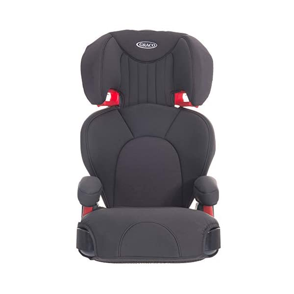 Graco Logico L Highback Booster Car Seat, Group 2/3, Midnight Grey Graco For children 15 to 36 kg (approx. 4 to 12 years) Convenient one-hand adjustable headrest Soft-cushioning seat with memory foam and height-adjustable padded armrest for comfort 1