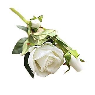 Nikgic Flor de simulación de Franela Acacia Rosa para el hogar, la Oficina o Las Bodas Regalo del Dia de la Madre