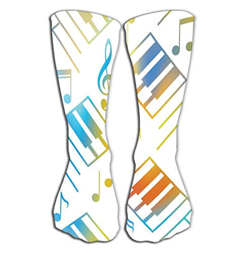 No Soy Como Tu Hohe Socken Outdoor Sports Men Women High Socks Stocking Abstract Music Backgrounds Piano Keys Musical Notes Interior Wall Stock Wallpaper Texture Tile Length 19.7