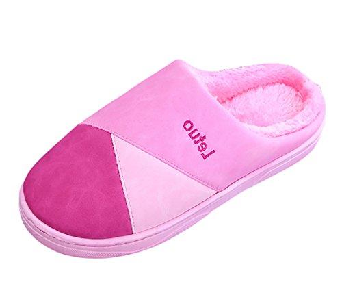 SK Studio Unisexe Chaud Chaussons Intérieur Hiver Pantoufles Doux Chaussures Maison Slippers Rose