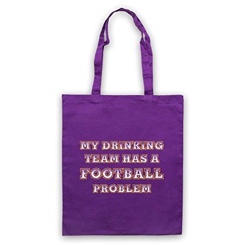 My Drinking Team Has A Football Problem Funny Football Slogan Umhangetaschen Violett