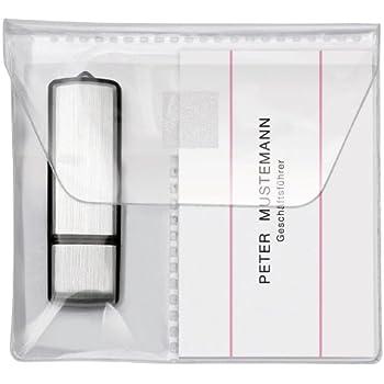 Veloflex 2256010 Usb Stick Hüllen Usb Stick Tasche Visitenkartenhülle Pp 10 X 10 Cm Selbstklebend Glasklar