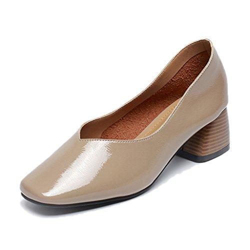 Scarpe donna HWF Spring High Heels Women Traspiranti Single Shoes in Pelle  College (Colore   8c6f380d64a