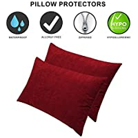 Dream Care Terrycloth Pillowcases (Full Size_ Maroon)