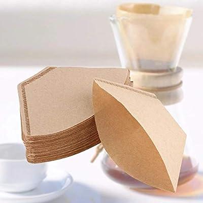 100 Pcs/Sac En Bois Original Grip Papier Filtre À Café En Espresso Café Filtre Packs Sachets De Thé Passoire Vert Thé Infuseur