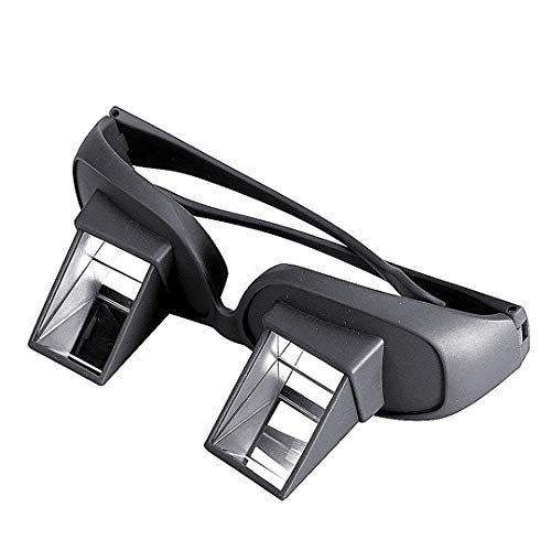 HD Bett Prism Brille Horizontal Faule kreative Periscope Ansicht Gläser für regelmäßige Glas-Schwarz-Lese