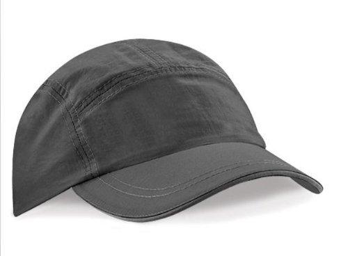 Beechfield Headwear - B186 Tactel® Casquette Baseball Performance Respirant Imperméable - Taille unique, Gris graphite