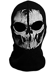 """Neck mask - TOOGOO(R)Round neck mask Hood """"Ghost Skull"""" -Call Of Duty Modern Warfare - Airsoft Paintball motorcycle Outdoor color # 8"""