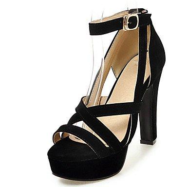 Damenschuhe Ferse Open toe Plattform Riemchen Sandale mehr Farbe, Schwarz, UNS 6,5-7/EU 37/ UK 4,5-5/CN (Schwarze Riemchen-plattform)