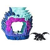 Dragons - Movie Line - 6046846 - Hidden World Playset (Dragon Lair) - Ohnezahn (Solid), Spielset Mystery Dragons, mit Licht, Drachenzähmen leicht gemacht 3, Die geheime Welt