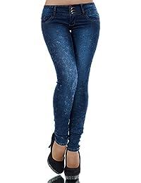 L379 Damen Jeans Hose Hüfthose Damenjeans Hüftjeans Röhrenjeans Röhrenhose Röhre