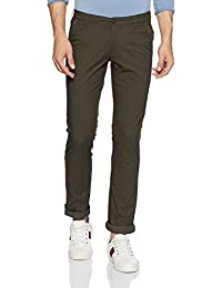 John Players Men's Skinny Fit Cotton Casual Trousers