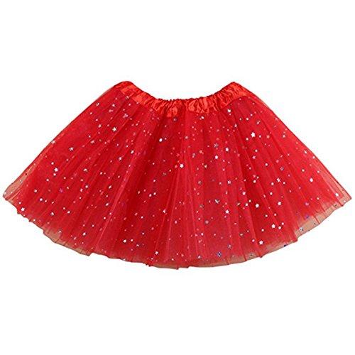 Tutu Tanz Kostüme Ballet (Jastore ®Tüllrock Stern Baby Mädchen Ballet Kostüm TuTu Rock Röckchen Prinzessin)
