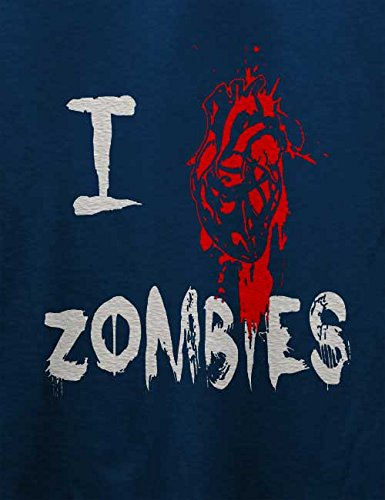 I Love Zombies T-Shirt Navy Blau