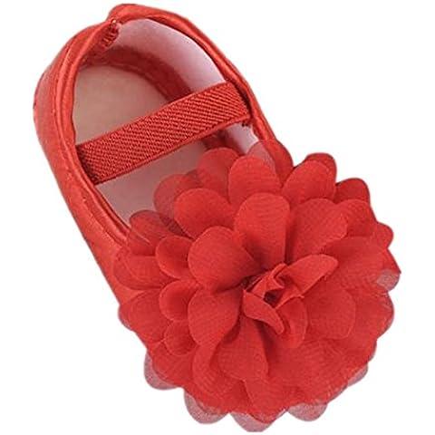 Scarpine neonata,Xinantime Scarpine primi passi Fiore della fascia elastica del bambino scarpe