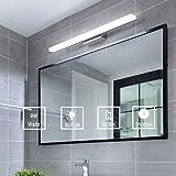 Yafido Aplique Espejo Baño Interior LED 40CM luz Baño Lámpara de Pared Espejo Iluminación para Maquillaje 9W Blanco Frío 6000K 800LM 40CM No-regulable IP44
