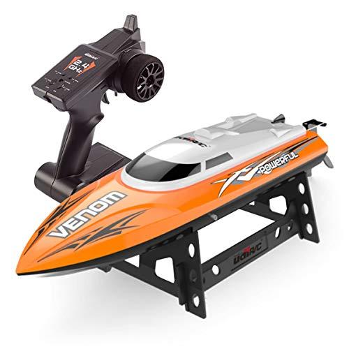 Esun Europe RC Boat Ferngesteuertes Boot 25KM/H High Speed Waterproof Rc Racing Boat with 180º Flip Function 2.4GHz Fernbedienung Spielzeug für Anfänger und Kinder