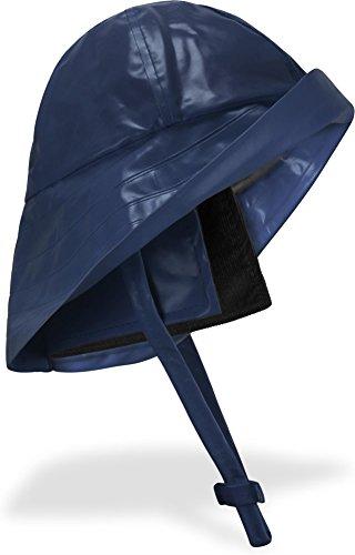 normani Regenhut Südwester mit Kinnband, breiter Krempe und Innenfutter Farbe Marine Größe M -