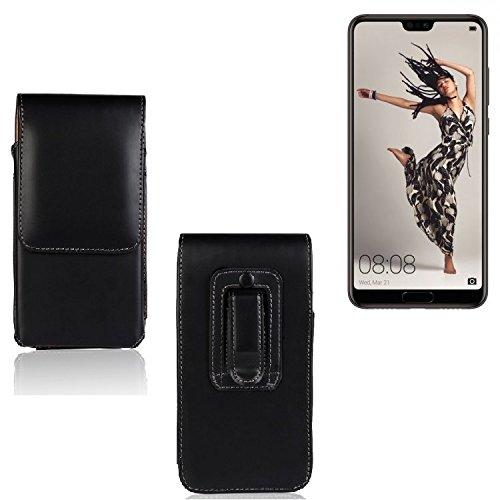 K-S-Trade Für Huawei P20 Pro Single-SIM Gürtel Tasche Gürteltasche Schutzhülle Handy Tasche Schutz Hülle Handytasche Smartphone Case Seitentasche Vertikaltasche Etui Belt Bag schwarz für Huaw