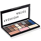 Swiss Beauty Fashion Artist Palette16 Eyeshadow + 1 Bronzer + 1 Blusher + 1 Highlighter,30 g,Color Set-03