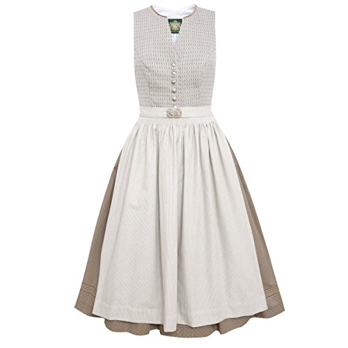 Hammerschmid Damen Trachten-Mode Midi Dirndl Titisee in Beige traditionell