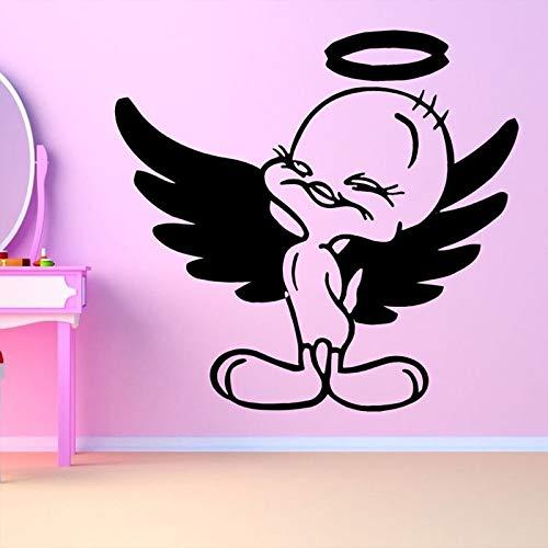 ONETOTOP Engel Tweety Sweet Bird Wandaufkleber für Kinderzimmer Wandtattoos Babys Schlafzimmer Home Art Decor Aufkleber Murals59 * 57cm Tweety Bird Vinyl