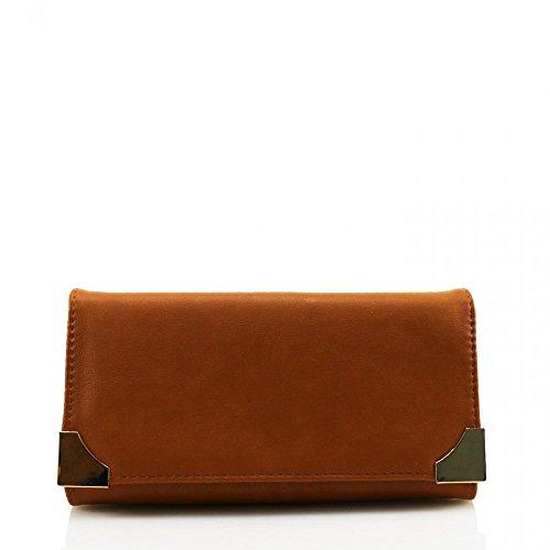 LeahWard® Damen Kunstleder Geldbörsen Groß Marke nett Brieftasche Geldbörse Tasche CW1608 Braun Geldbörse