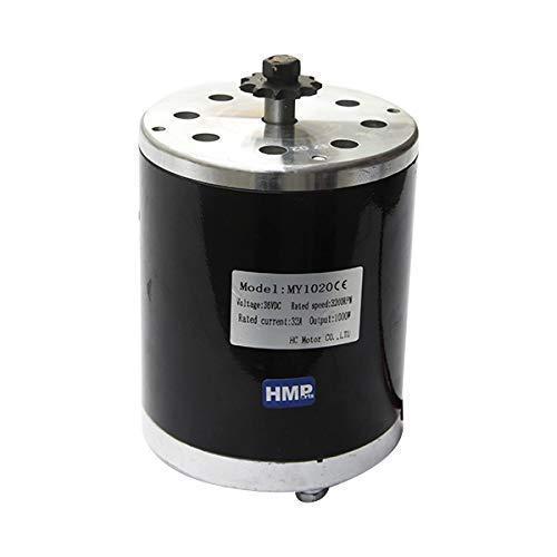 HMParts E- Scooter/RC Elektro Motor mit Halter 36V 1000W - MY1020 (Roller Motor Elektro)