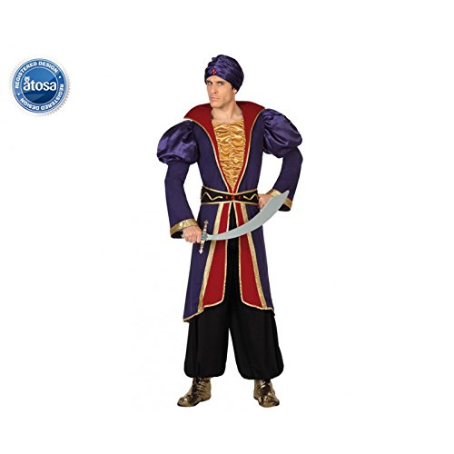 Preisvergleich Produktbild ATOSA 28464 - Arabischer Prinz,  Herrenkostüm,  Größe 50 / 52,  blau / rot