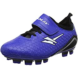 Gola Apex Blade Velcro, Scarpe da Calcio Unisex-bambini, Blu (Blue/Black/White), 32 EU