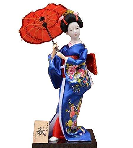 Japanische traditionelle Puppe Geisha Puppe antike japanische Puppen [M]